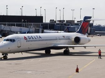 Delta airplane at Chicago O'Hare Airport