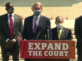 During a Thursday news conference, Democratic Sen. Ed Markey of Massachusetts and other Democratic lawmakers discussed their plans for the Supreme Court.