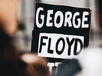 George Floyd protest sign