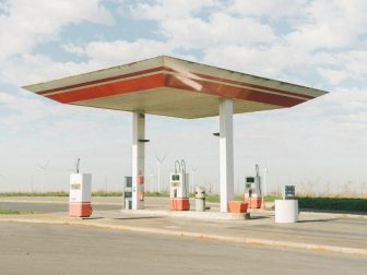 Two-pump gas station