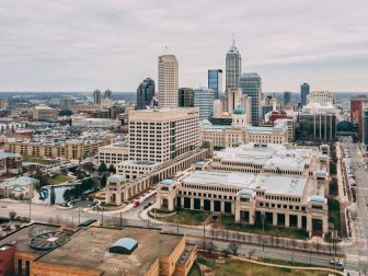 Downtown Indianapolis Indiana - Drone