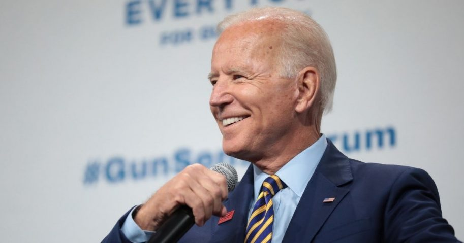Former Vice President of the United States Joe Biden speaking with attendees at the Presidential Gun Sense Forum hosted by Everytown for Gun Safety and Moms Demand Action at the Iowa Events Center in Des Moines, Iowa.