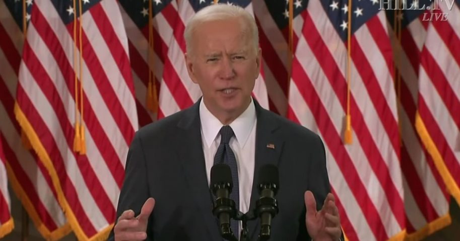 President Joe Biden delivers remarks on Wednesday concerning his $2 trillion plan to modernize infrastructure and address climate change.