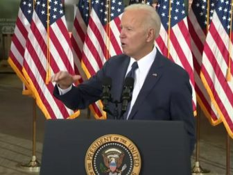 Joe Biden gives remarks on his economic plan for the future on March 31.