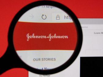 ohnson & Johnson company website page logo