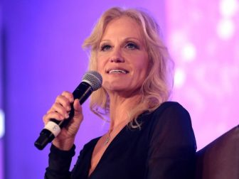 Kellyanne Conway speaking with attendees at the 2018 Young Women's Leadership Summit hosted by Turning Point USA at the Hyatt Regency DFW Hotel in Dallas, Texas.