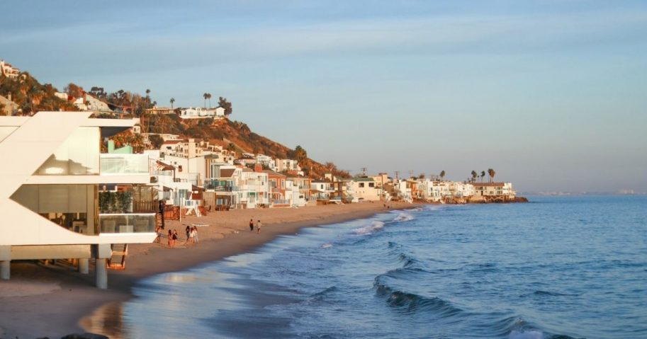 Sunset afternoon in Malibu