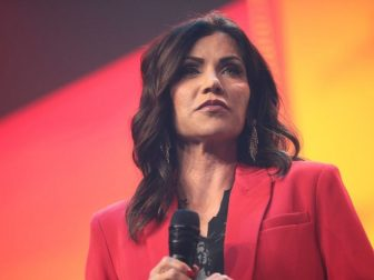Governor Kristi Noem speaking with attendees at the 2020 Student Action Summit hosted by Turning Point USA at the Palm Beach County Convention Center in West Palm Beach, Florida.