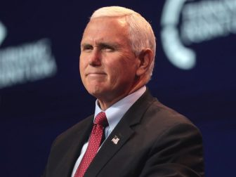Vice President of the United States Mike Pence speaking with attendees at the 2020 Student Action Summit hosted by Turning Point USA at the Palm Beach County Convention Center in West Palm Beach, Florida.