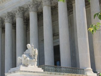 The U.S. Supreme Court Building's West Front Façade is undergoing a complete restoration to address deterioration due to age, weather and nature.