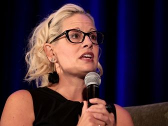 U.S. Senator Kyrsten Sinema speaking with attendees at the 2019 Update from Capitol Hill hosted by the Arizona Chamber of Commerce & Industry at the Arizona Biltmore Resort in Phoenix, Arizona.