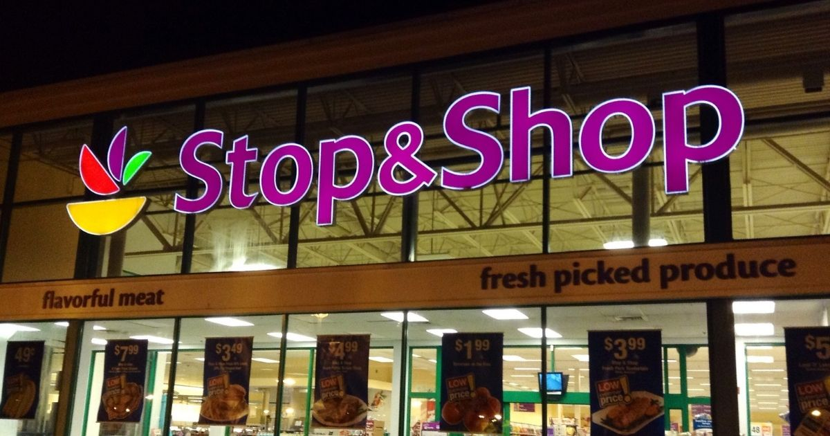 Stop&Shop StopAndShop Market Grocery Store at Night, 8/2014, Newington, CT. by Mike Mozart of TheToyChannel and JeepersMedia on YouTube.