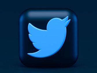 Twitter 3d Icon Concept. Dark Mode Style