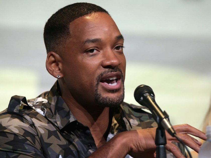 """Will Smith speaking at the 2016 San Diego Comic Con International, for """"Suicide Squad"""", at the San Diego Convention Center in San Diego, California."""