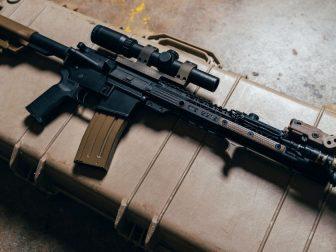 AR-15 on a case