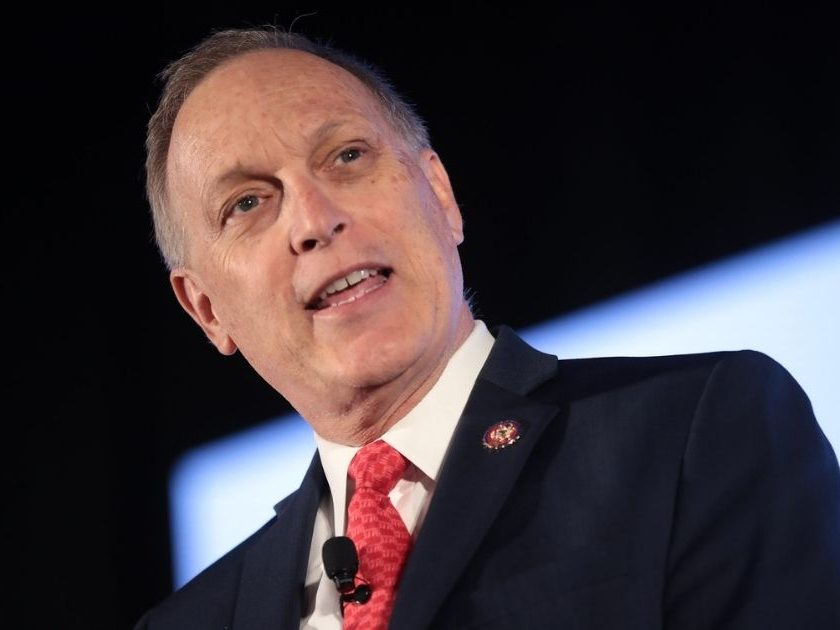 U.S. Congressman Andy Biggs speaking with attendees at the 2019 Teen Student Action Summit hosted by Turning Point USA at the Marriott Marquis in Washington, D.C.