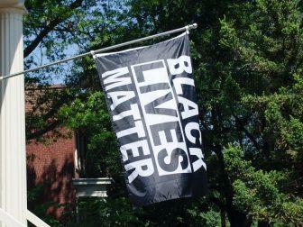 Black Lives Matter flag in Richmond, Virginia.