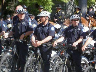 Bike cope at the memorial