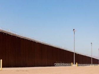 Border Wall near the Calexico Port of Entry