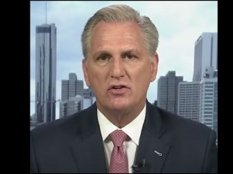 House Minority Leader Kevin McCarthy discusses the call for Liz Cheney's removal from leadership.