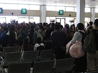 Crowded at LCCT Gate