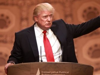 Donald Trump speaks at the 2014 Conservative Political Action Conference in National Harbor, Maryland, on March 6, 2014.