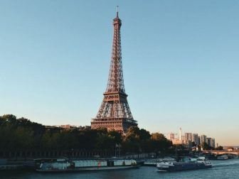 Eiffel tower on the river