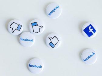 Facebook logo pins
