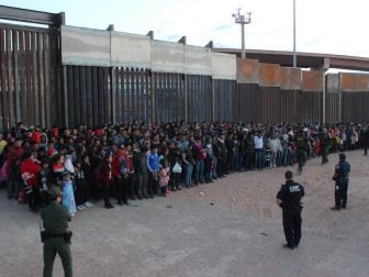 U.S. Border Patrol agents working in El Paso apprehend 1,036 illegal aliens. Agents took custody of the group members as they were attempting to illegally enter the U.S. in El Paso, Texas. May 29, 2019