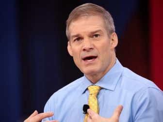 U.S. Congressman Jim Jordan speaking at the 2018 Conservative Political Action Conference (CPAC) in National Harbor, Maryland.