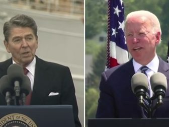 President Joe Biden, who has a history of lifting passages from other politicians' speeches, apparently did so again on Wednesday in his commencement address at the Coast Guard Academy in New London, Connecticut, borrowing a line from then-President Ronald Reagan's speech on the same occasion 33 years prior.