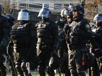 Patriot Prayer vs Antifa protests. Photo 12 of 14
