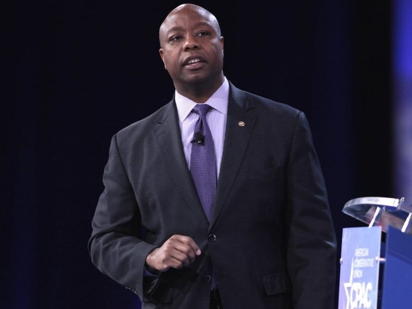 U.S. Senator Tim Scott of South Carolina speaking at the 2016 Conservative Political Action Conference (CPAC) in National Harbor, Maryland.