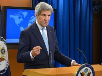Secretary Kerry Addresses Reporters at the Daily Press Briefing on His Last Day as Secretary of State