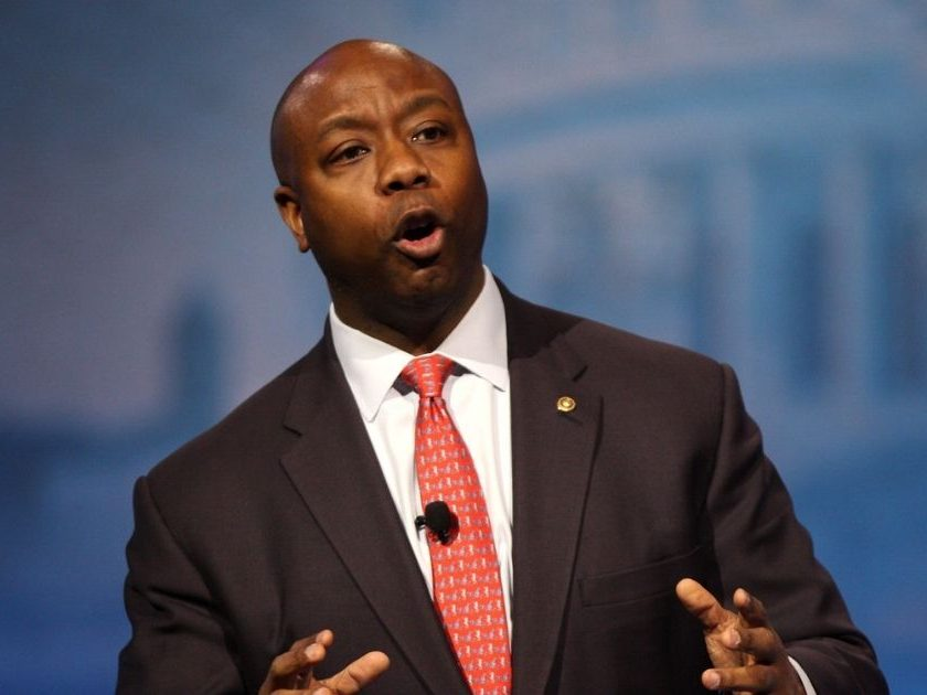 Senator Tim Scott of South Carolina speaking at the 2013 Conservative Political Action Conference (CPAC) in National Harbor, Maryland.
