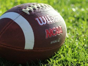 Wilson NCAA official size football.