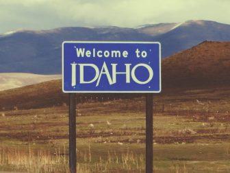 Welcome to Idaho, U.S. 95 Between Jordan Valley, Oregon and Marsing, Idaho