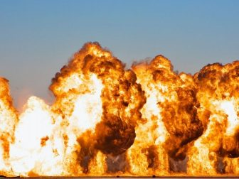 Flight-line explosion at 2010 Miramar Airshow.