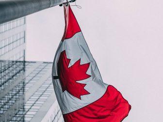 Canadian flag, Downtown Toronto