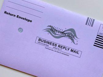 Election mail envelope