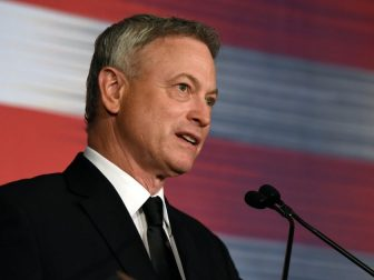 Gary Sinise, actor and humanitarian, addresses the USO of Metropolitan Washington-Baltimore's 35th Annual Awards Dinner, Arlington, Va., March 21, 2017, after receiving the Legacy of Hope Award for his contributions to service members through volunteering with the USO. (U.S. Army National Guard photo by Sgt. 1st Class Jim Greenhill)