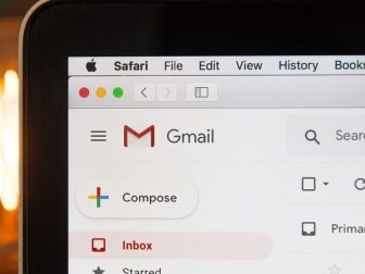 Internet browser with gmail pulled up