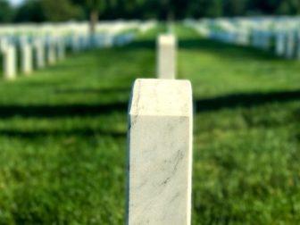 Headstone in a graveyard