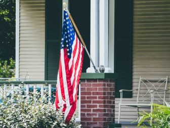 Front porch American flag