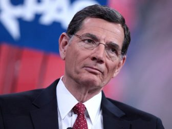 U.S. Senator John Barrasso of Wyoming speaking at the 2015 Conservative Political Action Conference (CPAC) in National Harbor, Maryland.