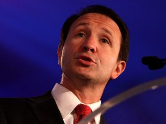 Congressman Jeff Landry speaking at the Republican Leadership Conference in New Orleans, Louisiana.