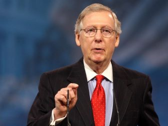 Senator Mitch McConnell of Kentucky speaking at the 2013 Conservative Political Action Conference (CPAC) in National Harbor, Maryland.