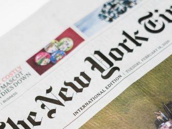 A New York Times newspaper