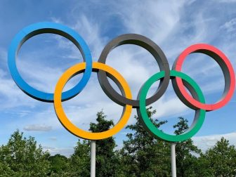 Multicolored Olympic rings