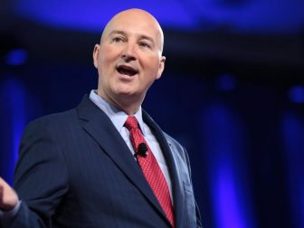 Governor Pete Ricketts of Nebraska speaking at the 2017 Conservative Political Action Conference (CPAC) in National Harbor, Maryland.
